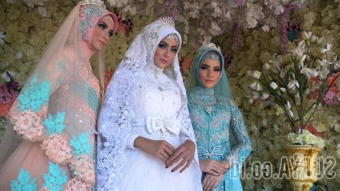 Model Desain Gaun Pengantin Muslimah Ffdn Baju Pengantin Ini Tampilkan Kemewahan Lewat Paduan Jawa