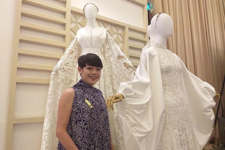 Model Desain Gaun Pengantin Muslimah Q5df Produksi Custom Desainer Gaun Pengantin Tinggalkan Skema