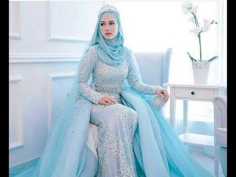 Model Desain Gaun Pengantin Muslimah S1du Baju Pengantin Muslimah Mewah