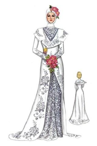 Model Desain Gaun Pengantin Muslimah X8d1 Kebaya Pengantin Muslim