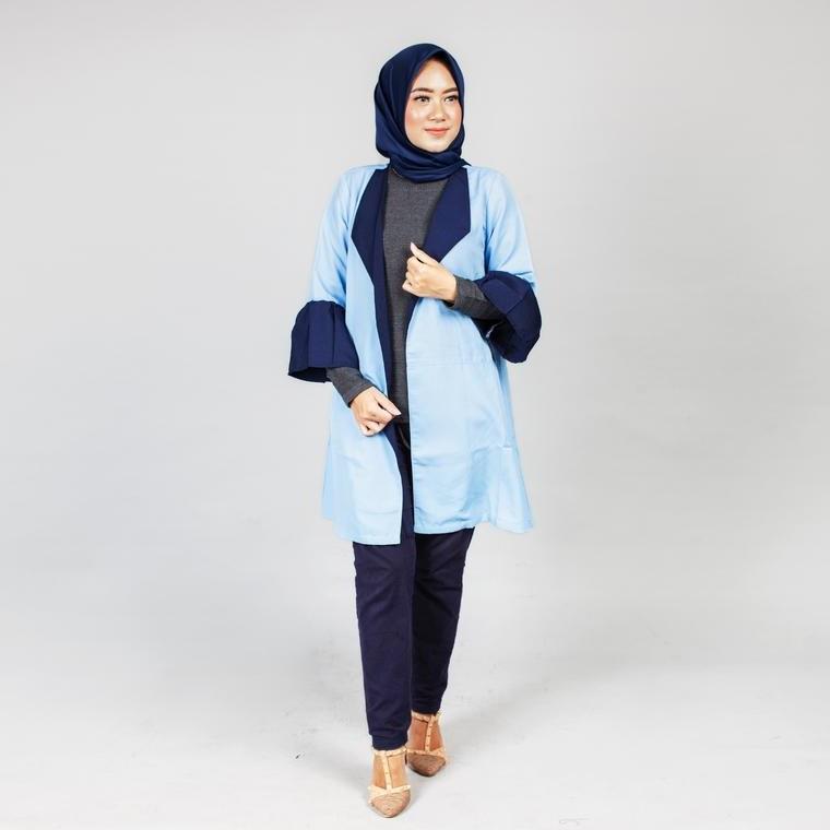 Model Gaun Muslim Pengantin Etdg Dress Busana Muslim Gamis Koko Dan Hijab Mezora