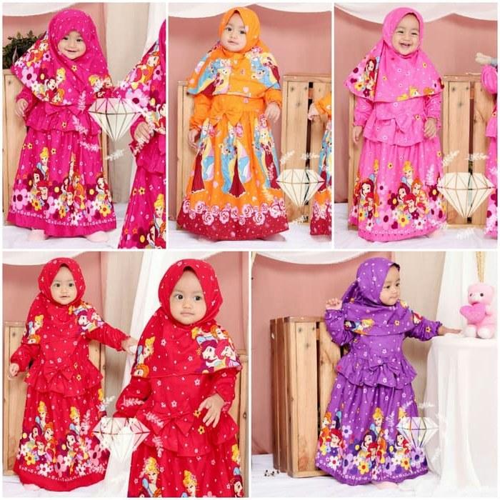 Model Gaun Muslim Pengantin Mndw Jual Od 5 Wrn Baju Gamis Busana Muslim Rok Anak Kid Murah Princess Disney Dki Jakarta Ferisna Os
