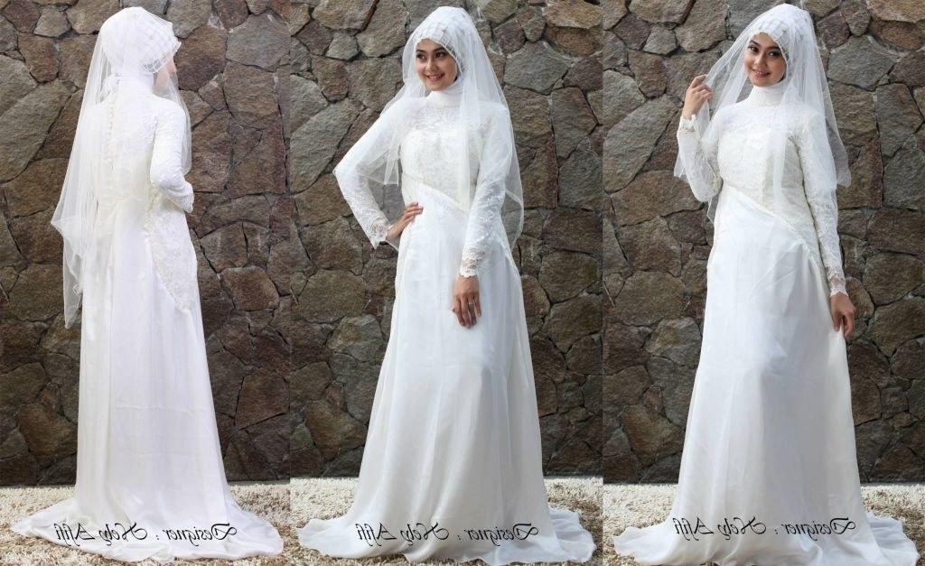 Model Gaun Muslimah Pengantin Bqdd 20 Bagus Foto Pengantin Muslim Putih