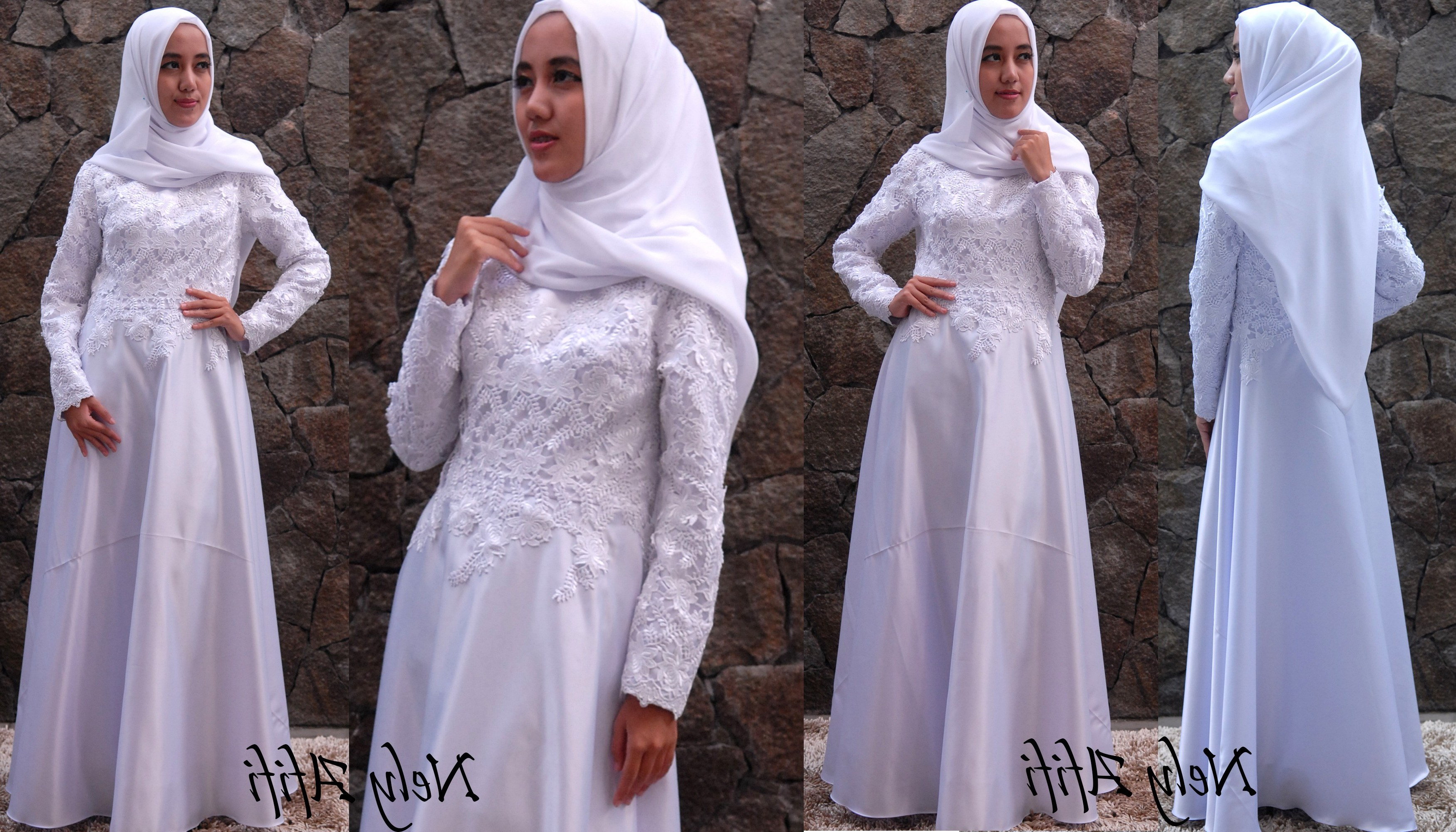 Model Gaun Muslimah Pengantin J7do Pengantin Muslimah Terbaik Gaun Pengantin Hijab Warna Putih