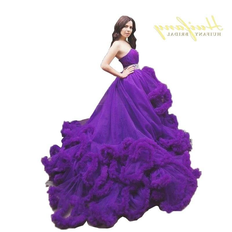 Model Gaun Pengantin Muslim 2017 9ddf 2016 Strapless oranye Pink Burgundy Purple Princess Wedding