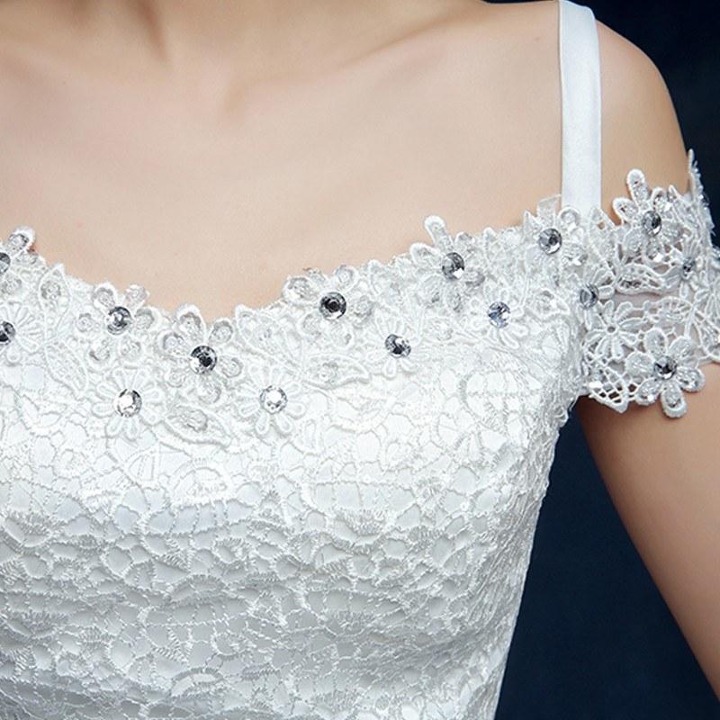 Model Gaun Pengantin Muslim Modern 2015 Gdd0 wholesale 2019 Cheap Short Lace Sleeve Plus Size Boat Neck Wedding Dress Princess Fashin Dresses Robe De Mariage