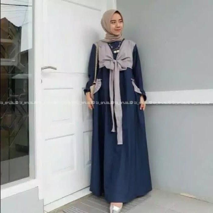 Model Gaun Pengantin Muslim Modern 2018 Mndw Jual Nisya Dress Maxy Baju Gamis Muslim Dress Wanita Gamis Pesta Modern Kota Bandung Rafiera