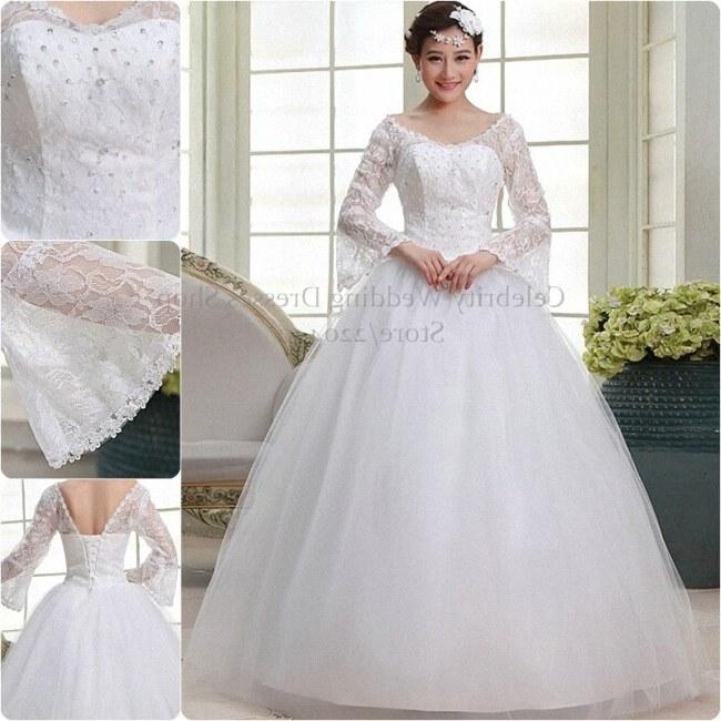 Model Gaun Pengantin Muslim Modern Ftd8 Free Shipping Long Sleeve White Lace Up Bridal Gowns Dresses