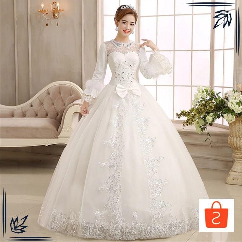 Model Gaun Pengantin Muslim Modern Gdd0 Grosir Sy Gaun Pengantin Import Wedding Dress Lengan Panjang Modern Muslimah Keren