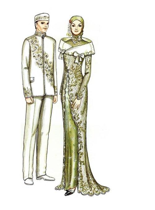 Model Gaun Pengantin Muslim Modifikasi 87dx Contoh Desain Baju Pengantin Muslimah Desain Pernikahan