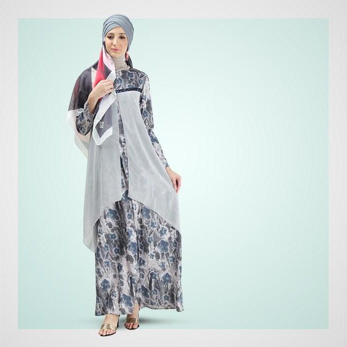 Model Gaun Pengantin Muslim Sepasang 87dx Dress Busana Muslim Gamis Koko Dan Hijab Mezora