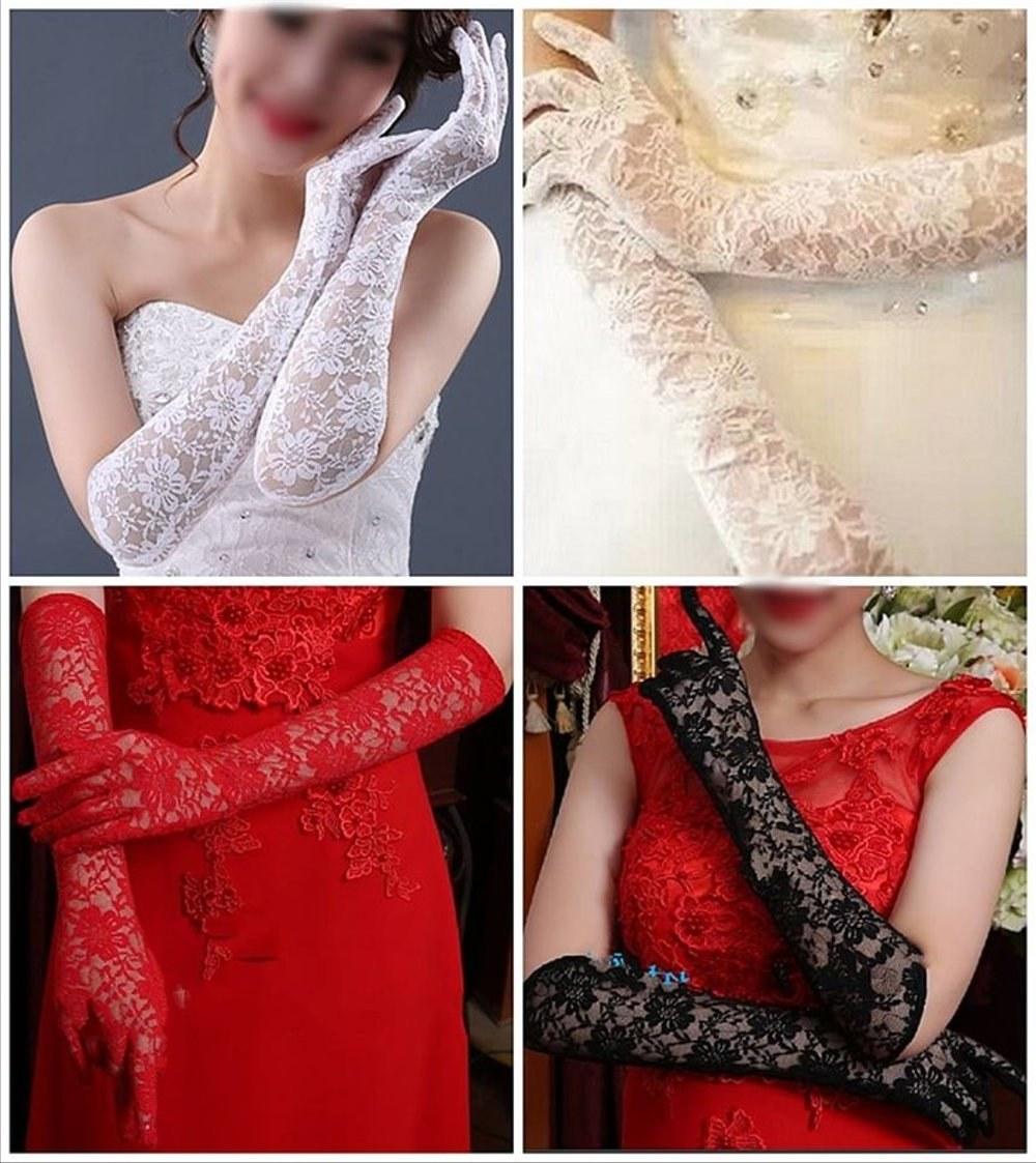 Model Gaun Pengantin Muslim Sepasang 8ydm Limited Sarung Tangan Gloves Import Brukat Kebaya Gaun Pengantin Wedding Dress