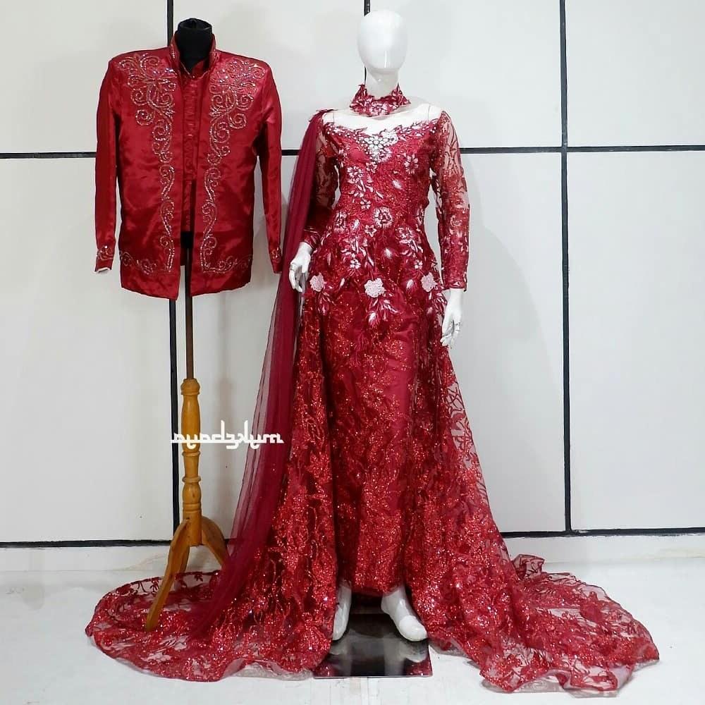 Model Gaun Pengantin Muslim Sepasang Bqdd Jual Produk Gaun Pengantin Elegan Pernikahan Gaun Murah Dan