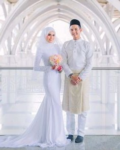 Model Gaun Pengantin Muslim Sepasang Whdr 144 Best Baju Nikah Putih Images In 2019