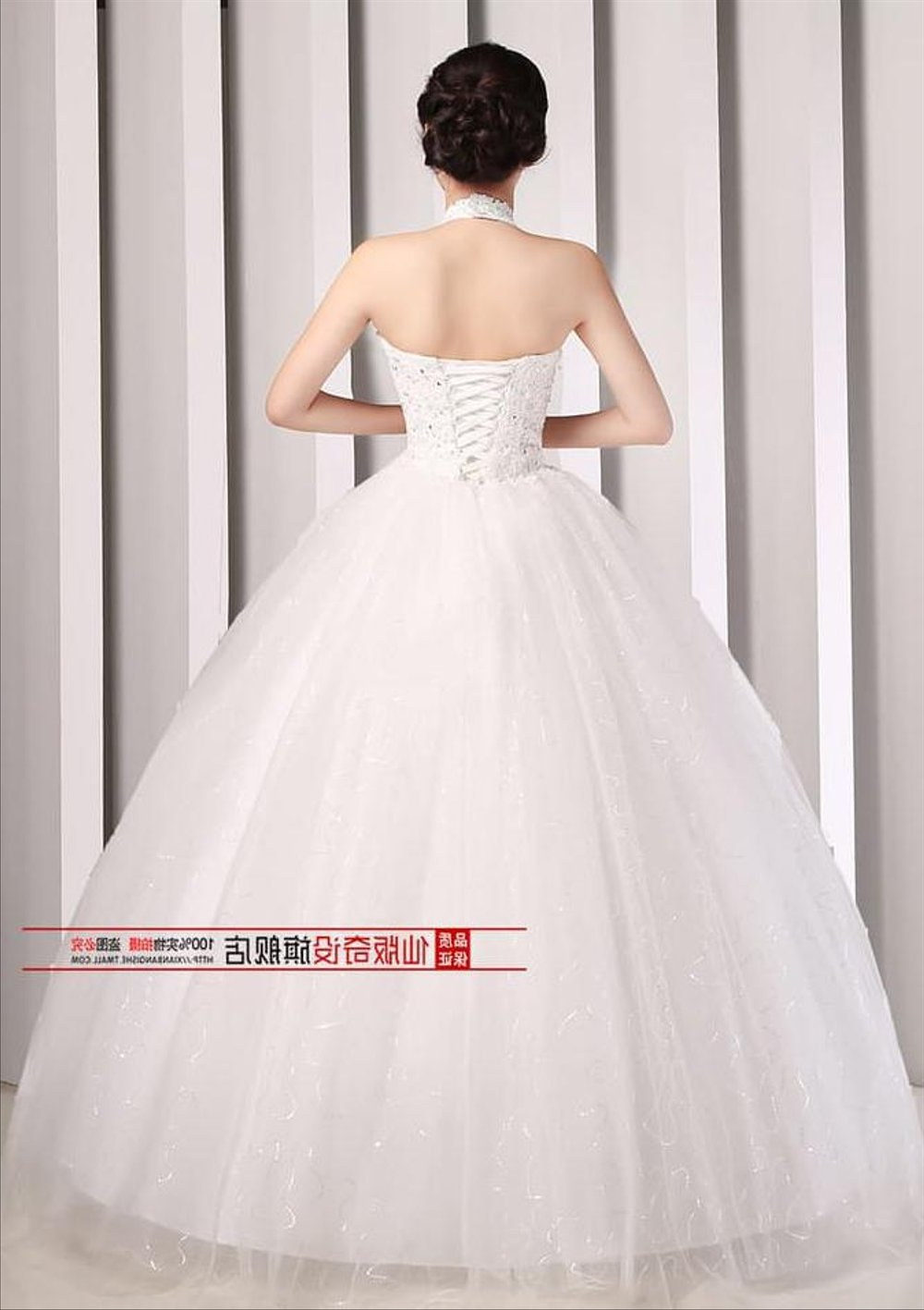 Model Gaun Pengantin Muslimah 2016 D0dg Wedding Dress Gaun Pengantin Ikat Leher Payet Bordir Korea 2016