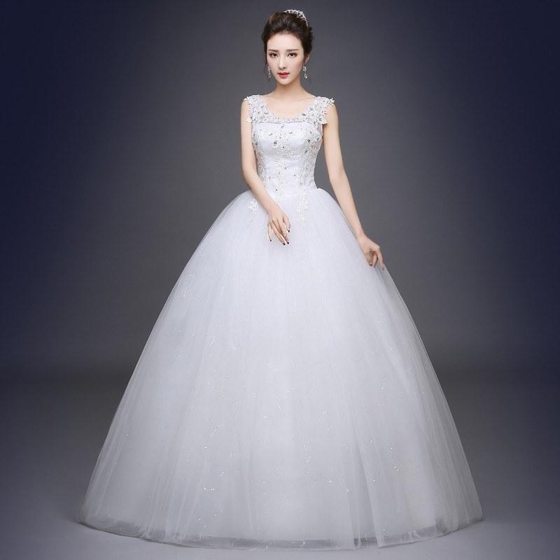 Model Gaun Pengantin Muslimah Elegan E6d5 wholesale Romantic Y V Neck Lace Wedding Dresses 2019 Elegant Princess Bride Gown Dresses Lace Up Vestido De Noiva Princess Gown Wedding Dresses