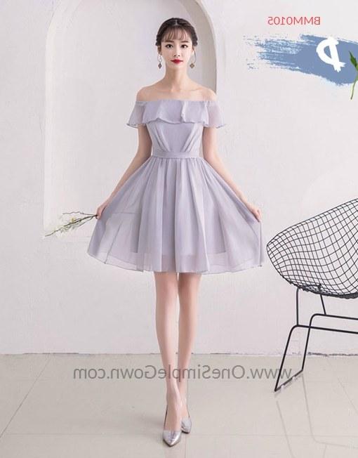 Model Gaun Pengantin Muslimah Elegan Etdg 2 Colors 5 Designs Chiffon Bridesmaid Short Long Dress