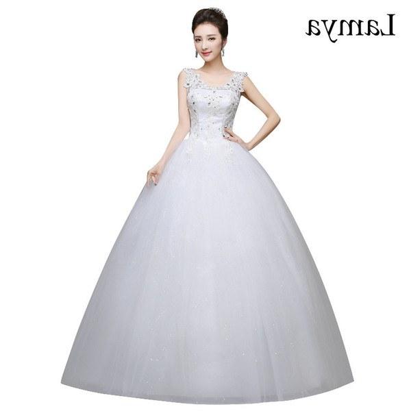 Model Gaun Pengantin Muslimah Elegan Zwdg wholesale Romantic Y V Neck Lace Wedding Dresses 2019 Elegant Princess Bride Gown Dresses Lace Up Vestido De Noiva Princess Gown Wedding Dresses