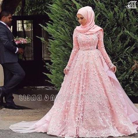 Model Gaun Pengantin Muslimah Pink 3ldq List Of Gaun Pengantin Muslim Wedding Dressses Long Sleeve