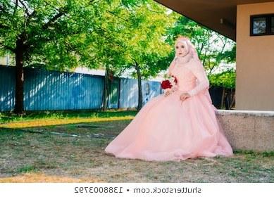 Model Gaun Pengantin Muslimah Pink 8ydm Muslim Nikah Stock S & Vectors