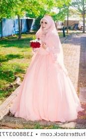 Model Gaun Pengantin Muslimah Pink Dddy Muslim Nikah Stock S & Vectors