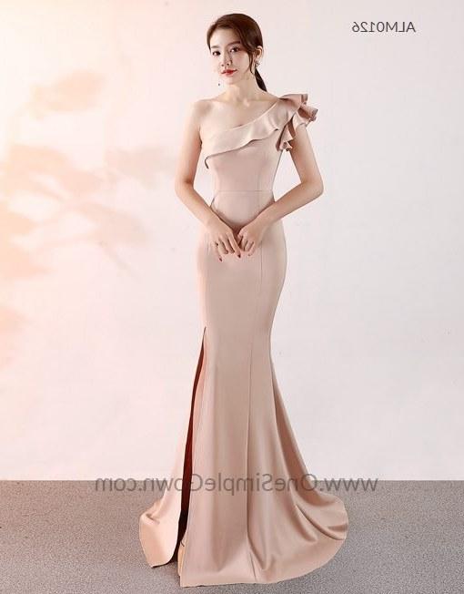 Model Gaun Pengantin Muslimah Pink Kvdd 7 Colors E Shoulder Long evening Dress