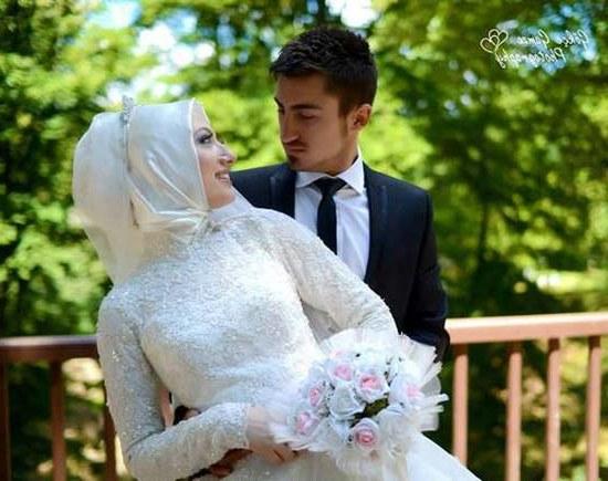Model Gaun Pengantin Muslimah Pink Q5df 165 Cute and Romantic Muslim Marriage Couples [updated]