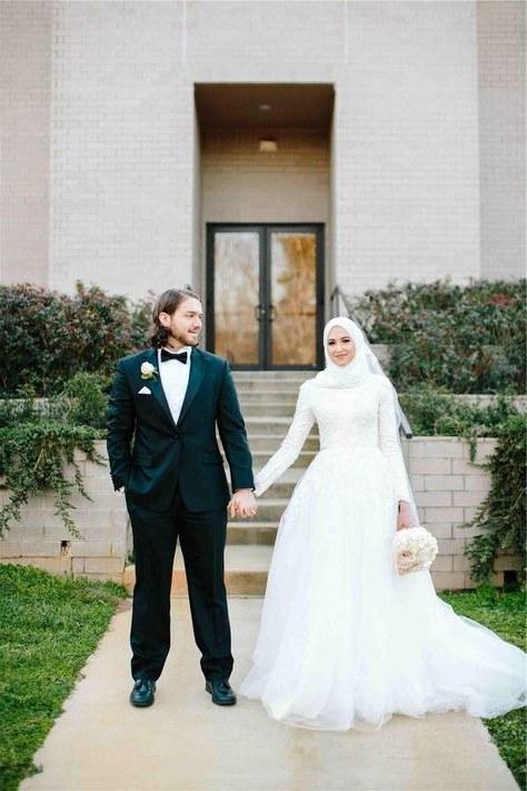 Model Gaun Pengantin Muslimah Pink Rldj List Of Gaun Pengantin Muslim Wedding Dressses Long Sleeve
