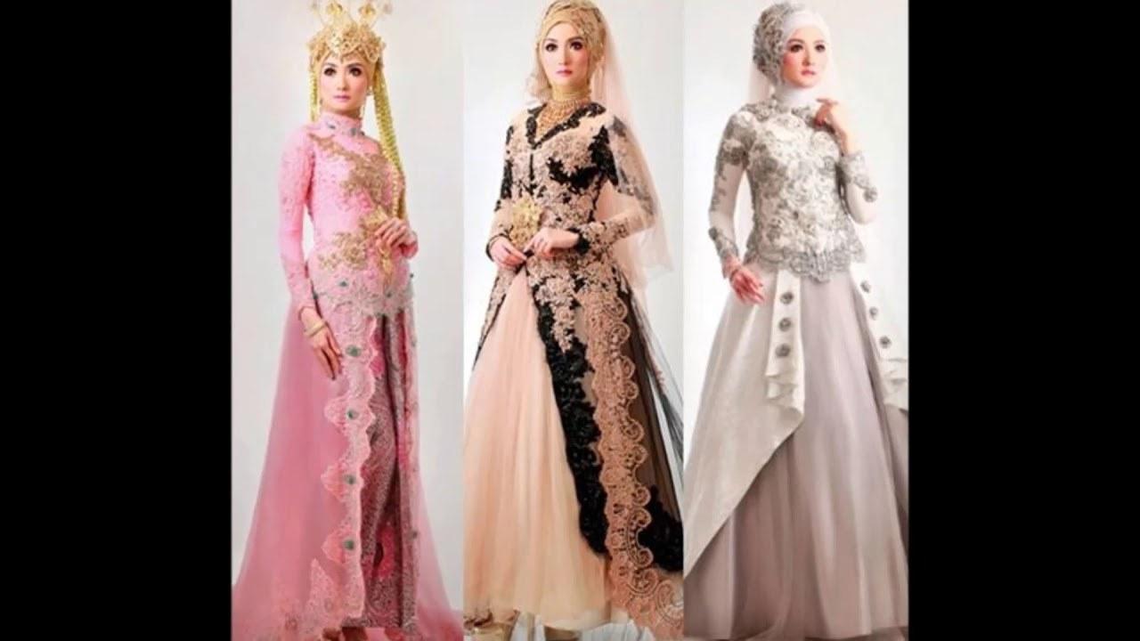 Model Gaun Pengantin Muslimah Untuk orang Gemuk Etdg Kebaya Pernikahan Yang Lumayan Anggun Untuk