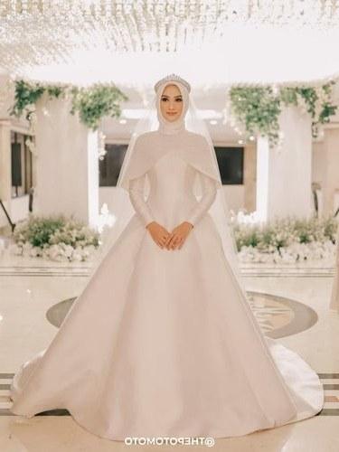 Model Gaun Pengantin Muslimah Untuk orang Gemuk J7do 8 Inspirasi Gaun Pengantin Muslimah Dari Artis Hingga Selebgram