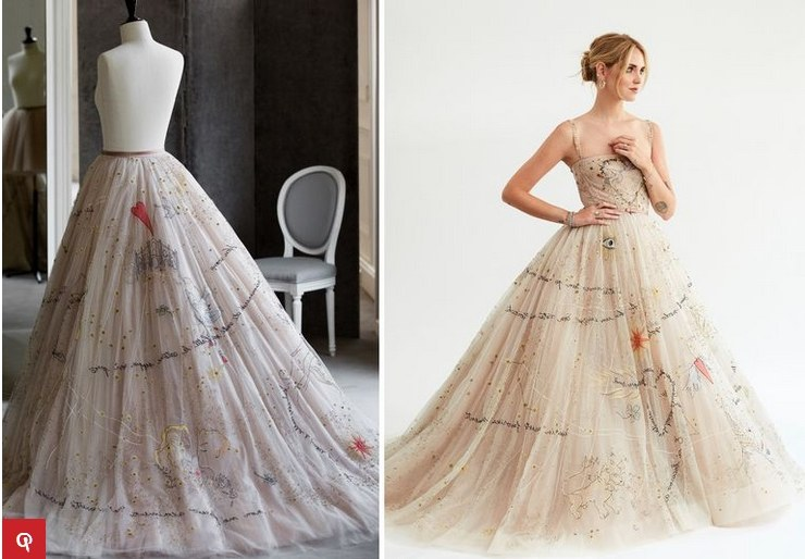 Model Gaun Pengantin Muslimah Untuk orang Gemuk Mndw Cantiknya Gaun Pengantin Chiara Ferragni Yang Dirancang