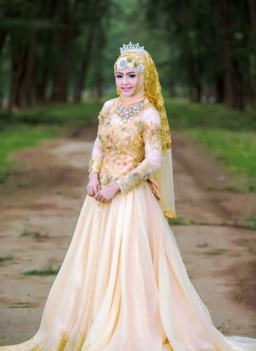 Model Gaun Pengantin Muslimah Untuk orang Gemuk Zwd9 24 Gaun Pengantin Muslimah Sederhana Tapi Modern