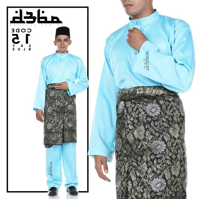 Model Gaun Pengantin Muslimah Warna Biru Terfavorit 87dx Baju Melayu Sky Blue Baby Blue Adeb by Wni