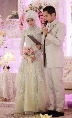 Model Gaun Pengantin Muslimah Warna Biru Terfavorit Ftd8 12 Best Gaun Images