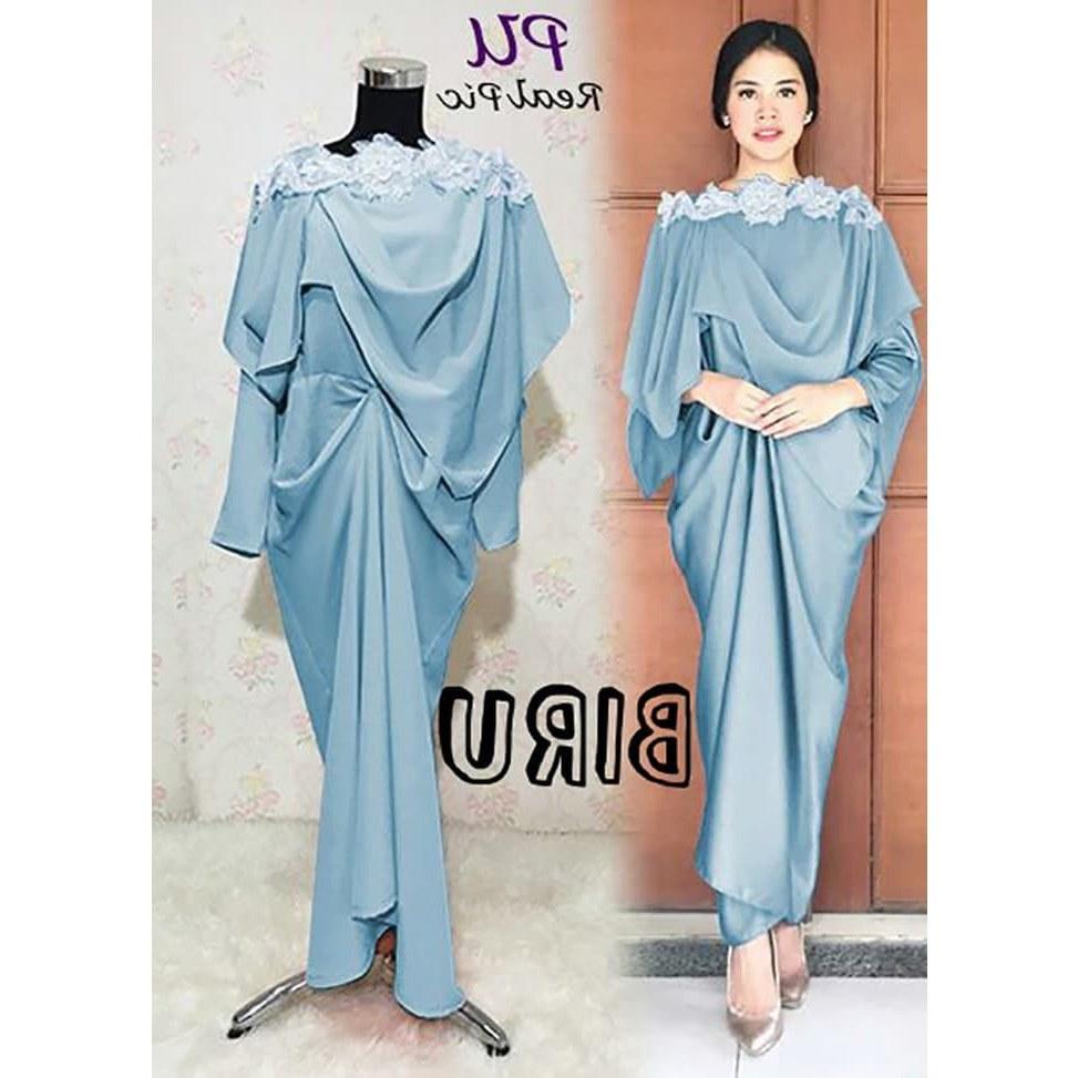 Model Gaun Pengantin Muslimah Warna Biru Terfavorit J7do Promo Maxi Prinsa Long Dress Maxmara Gamis Semi Kaftan Baju Busui Muslim by Chazshop