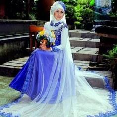 Model Gaun Pengantin Muslimah Warna Biru Terfavorit T8dj 12 Best Desain Baju Muslim Terbaru Images