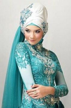Model Gaun Pengantin Muslimah Warna Biru Terfavorit Y7du 8 Best islamic Dress Images