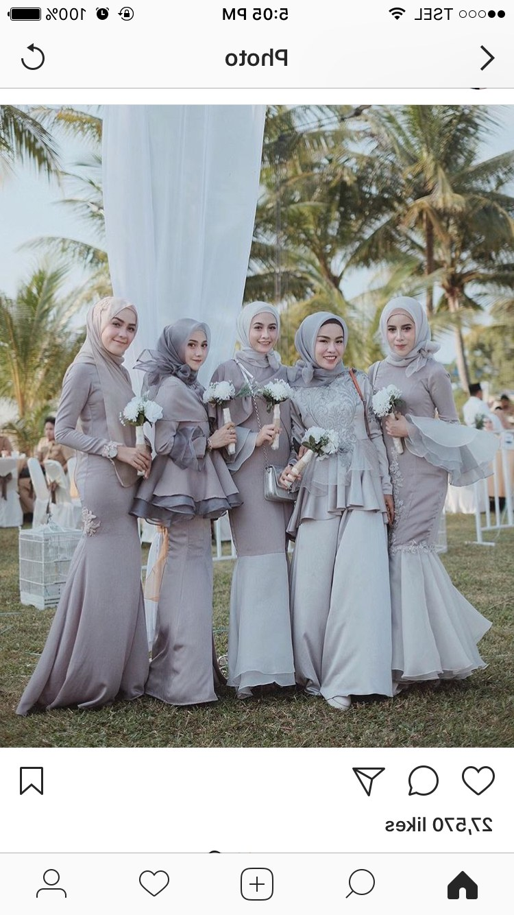 Model Gaun Pengiring Pengantin Muslim 3id6 Pin Oleh Arthomoro Di Model Pakaian Hijab
