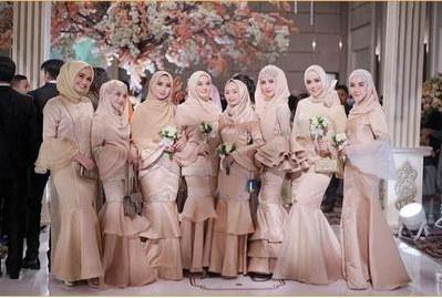 Model Gaun Pesta Pernikahan Muslimah 3id6 Gaun Pesta Muslimah Syari Ala Selebgram Dan Artis Ini Cocok