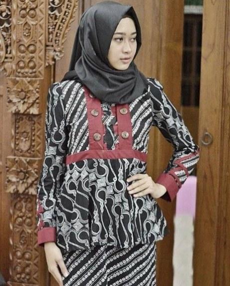 Model Gaun Pesta Pernikahan Muslimah S5d8 25 Koleksi Baju Pesta Batik Muslim Gaya Modern 2019