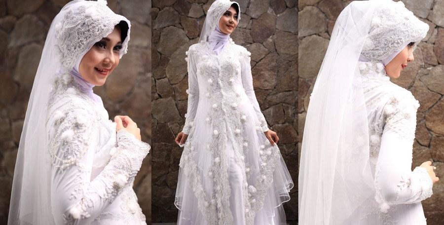Model Model Gaun Pengantin Muslim Thdr 30 Model Gamis Brokat Untuk Umroh Fashion Modern Dan