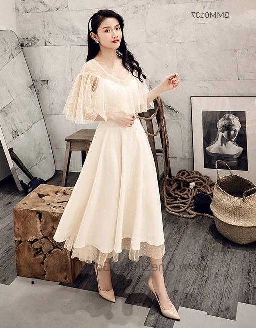 Model Model Gaun Pengantin Muslim Y7du Retro 6 Designs Champagne Lady Bridesmaid Dress