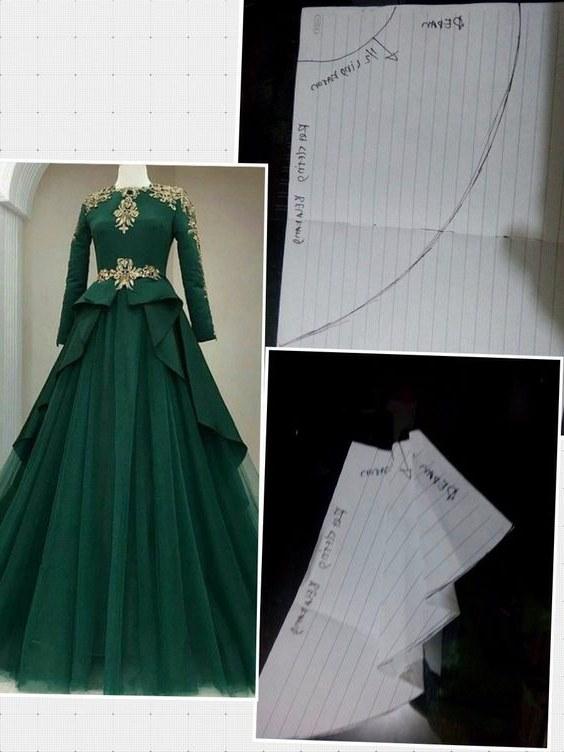 Model Pola Gaun Pengantin Muslimah Mndw Rahma Wati Watirrahma358 On Pinterest