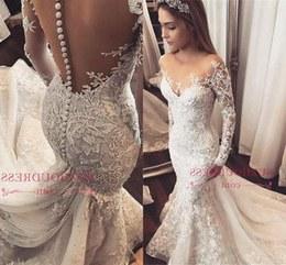 Model Sewa Baju Pengantin Muslim Modern 87dx 2019 Long Sleeves Mermaid Lace Appliqued Wedding Dresses Vintage Arabic Dubai Plus Size Boho Bridal Gown Bc1509