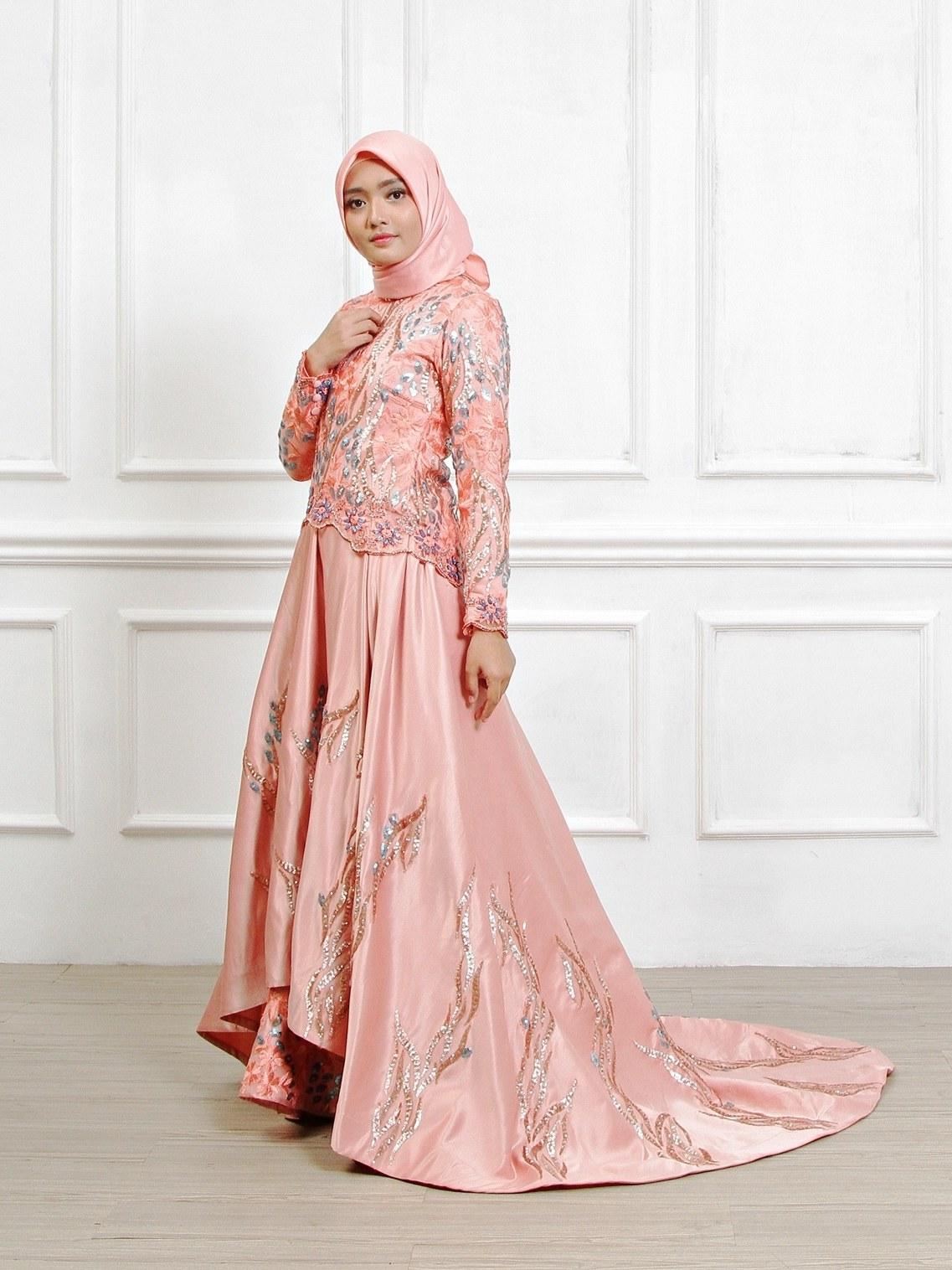 Model Sewa Baju Pengantin Muslimah Modern 4pde Gaun Pengantin Muslimah Dress Muslim Pungky Rumah Jahit