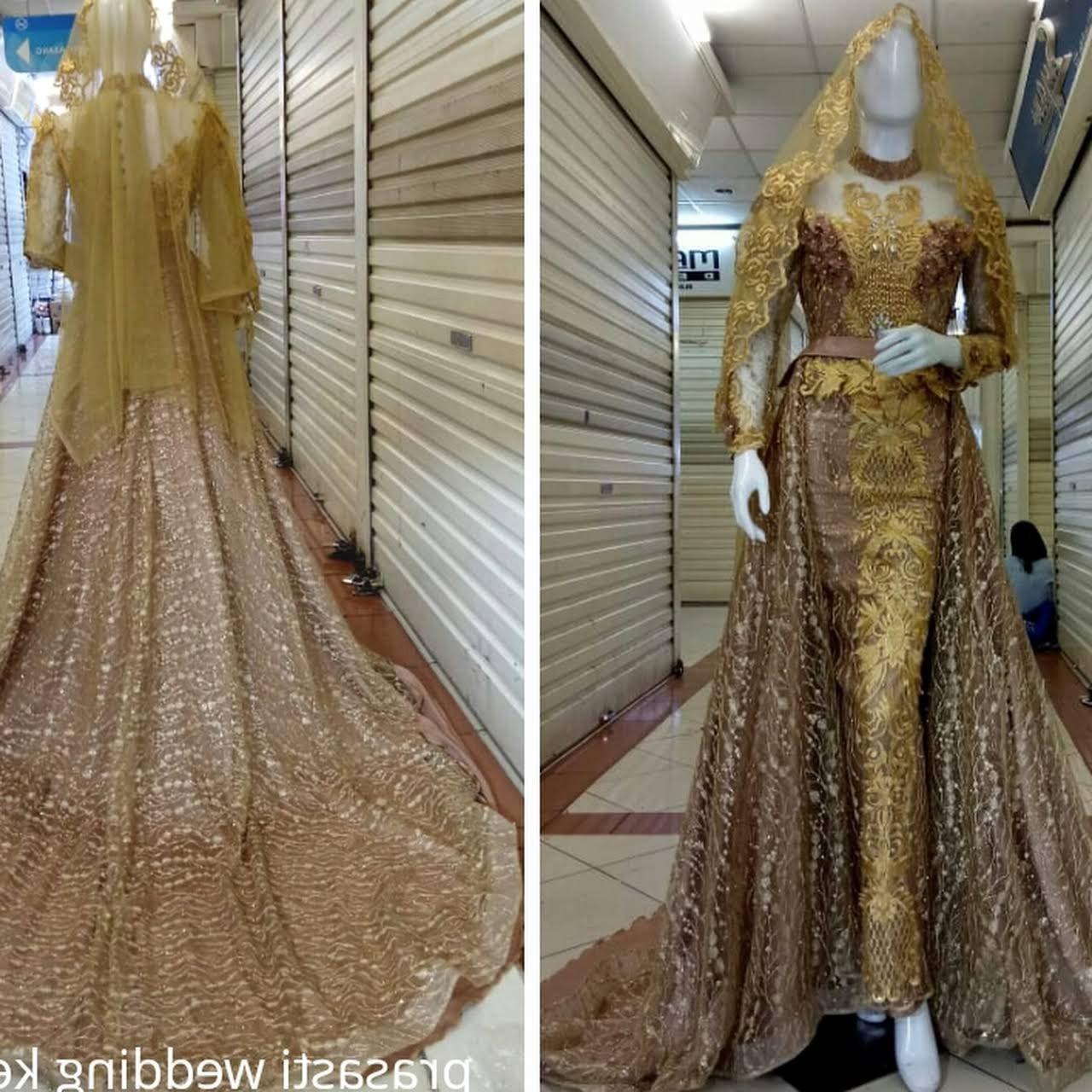Model Sewa Baju Pengantin Muslimah Modern 9ddf Gaun Kebaya Pengantin Muslimah Hijab Syari Layanan Belanja