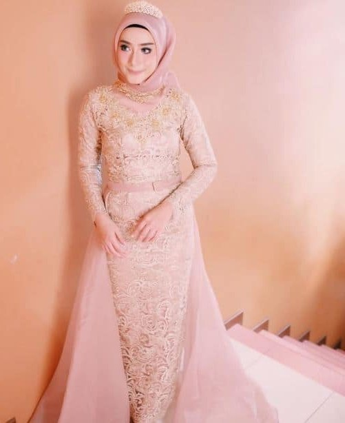 Model Sewa Gaun Pengantin Muslimah Modern O2d5 Baju Muslim Terbaru Contoh Baju Pengantin Muslimah Simple