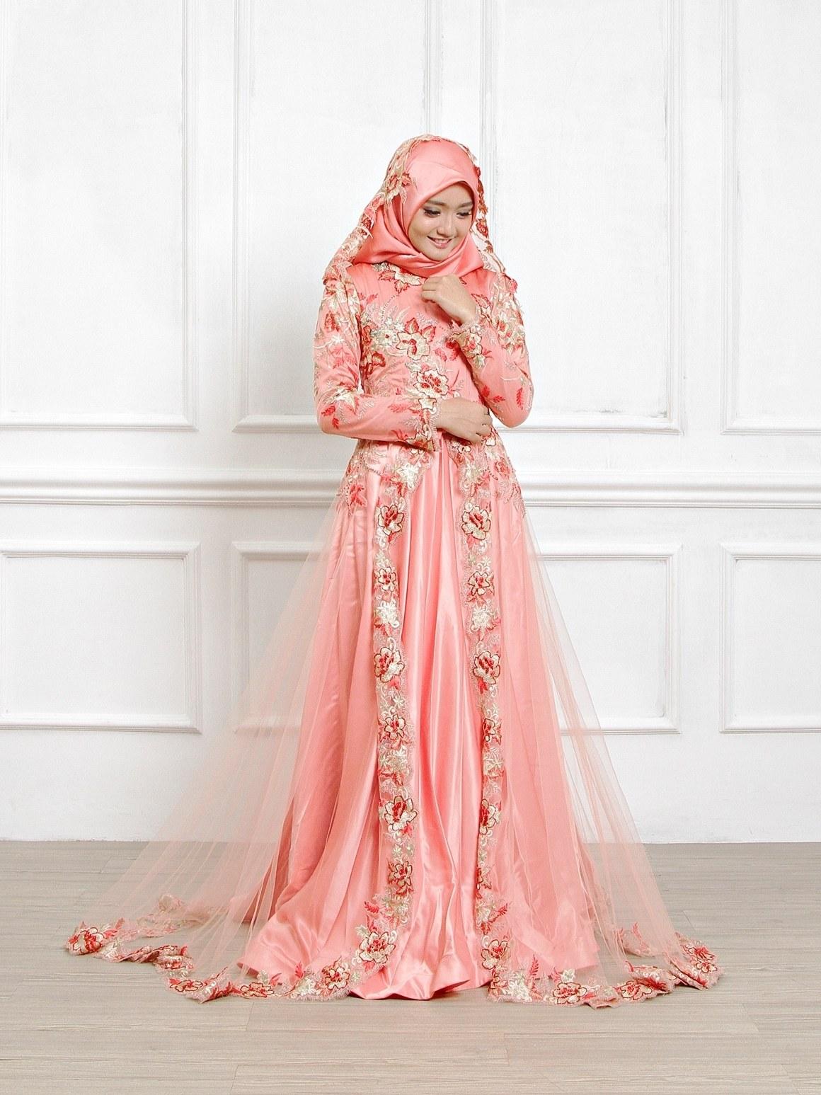 Model Sewa Gaun Pengantin Muslimah Modern Tqd3 Gaun Pengantin Muslimah Dress Muslim Pungky Rumah Jahit