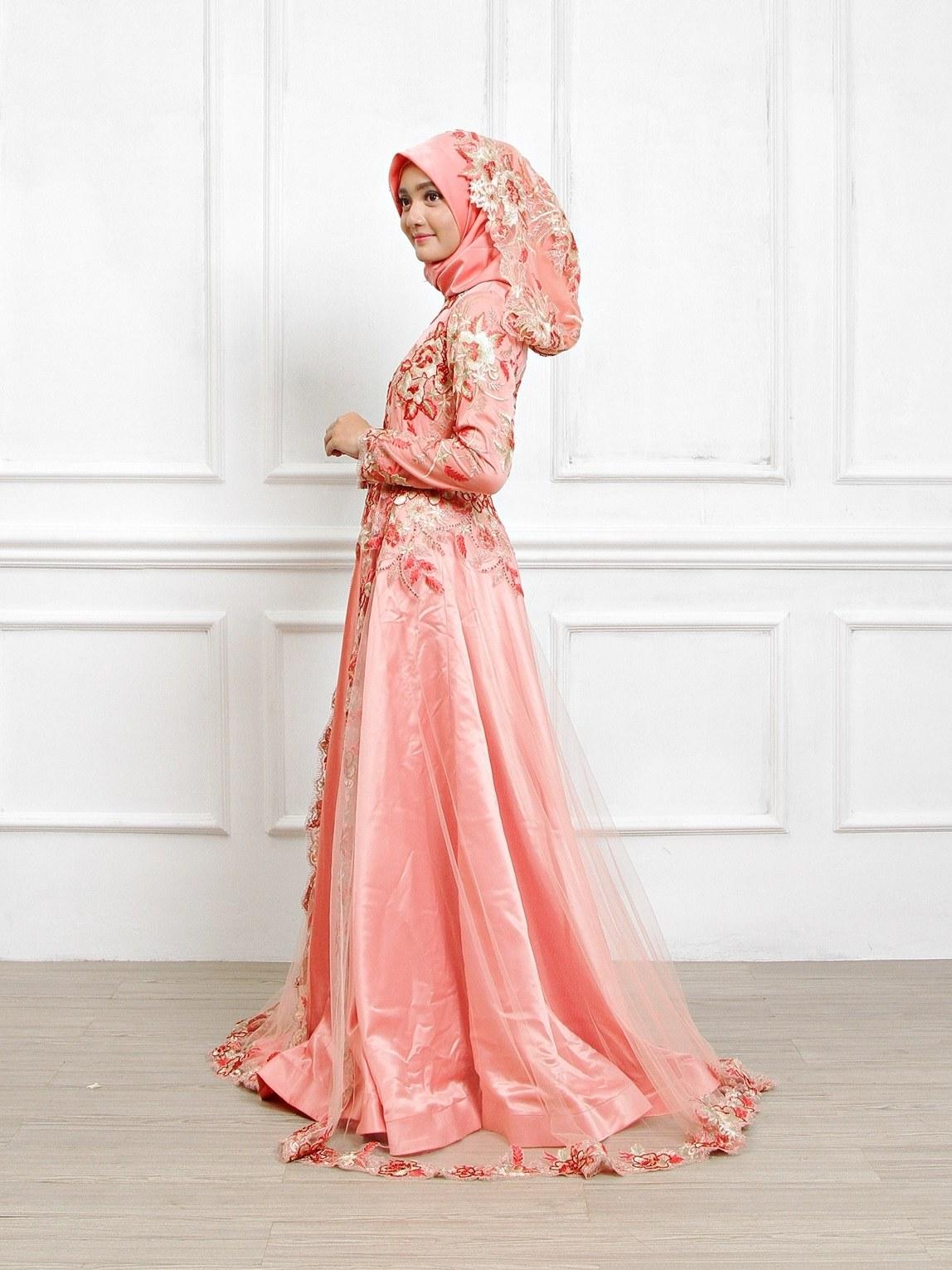 Model Sewa Gaun Pengantin Muslimah Modern Whdr Gaun Pengantin Muslimah Dress Muslim Pungky Rumah Jahit