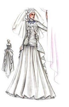 Model Sketsa Gaun Pengantin Muslimah Bqdd 16 Best Bushra Images